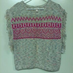 Cat and Jack Sleeveless Fringe Knit Sweater